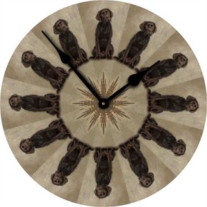 Chocolate Labrador Wall Clock