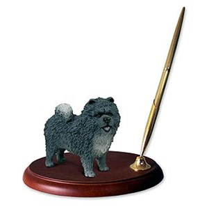 Chow Chow Pen Holder (Blue)