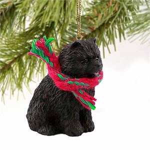 Chow Chow Tiny One Christmas Ornament Black