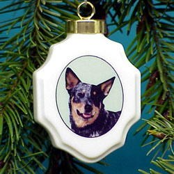 Australian Cattle Dog Christmas Ornament Porcelain