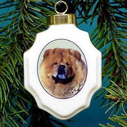 Chow Chow Christmas Ornament Porcelain