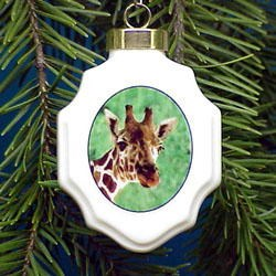 Giraffe Christmas Ornament Porcelain