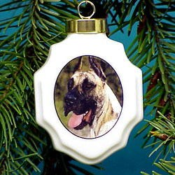 Great Dane Christmas Ornament Porcelain