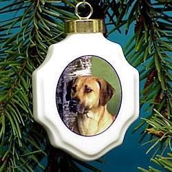 Rhodesian Ridgeback Christmas Ornament Porcelain