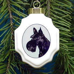 Scottish Terrier Christmas Ornament Porcelain
