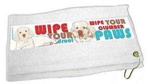 Clumber Spaniel Paw Wipe Towel