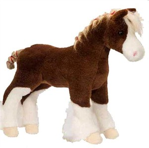 Macclay the Clydesdale Plush Stuffed Animal 15""