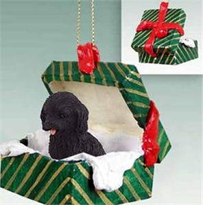 Cockapoo Gift Box Christmas Ornament Black