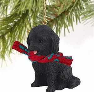 Cockapoo Tiny One Christmas Ornament Black