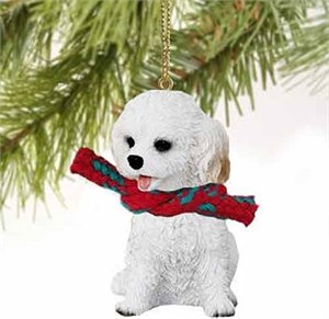 Cockapoo Tiny One Christmas Ornament White