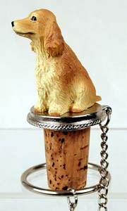 Cocker Spaniel Bottle Stopper (Blonde)