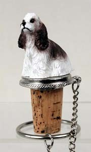 Cocker Spaniel Bottle Stopper (Brown & White)