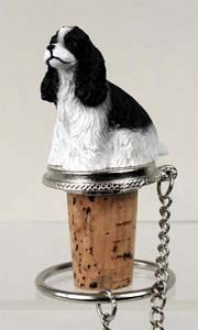 Cocker Spaniel Bottle Stopper (Black & White)
