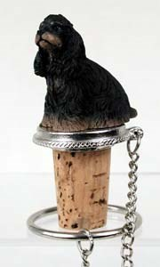 Cocker Spaniel Bottle Stopper (Black & Tan)