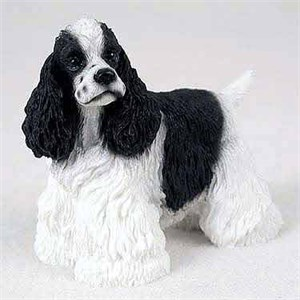 Cocker Spaniel Figurine Black-White