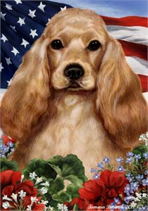 Cocker Spaniel House Flag Buff
