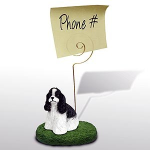 Cocker Spaniel Note Holder (Black & White)