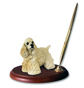 Cocker Spaniel Pen Holder (Blonde)