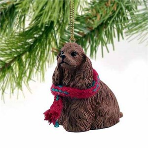 Cocker Spaniel Tiny One Christmas Ornament Brown