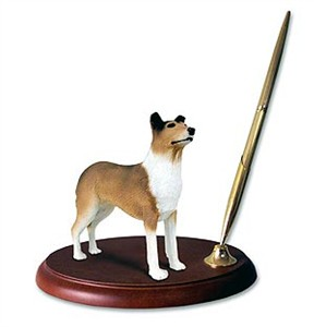 Collie Pen Holder (Smooth Hair)