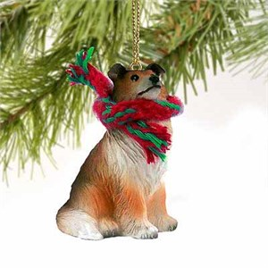 Collie Tiny One Christmas Ornament Sable