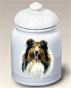 Collie Cookie Jar