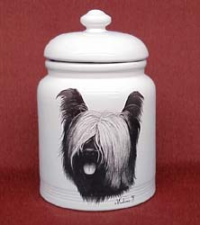 Skye Terrier Cookie Jar