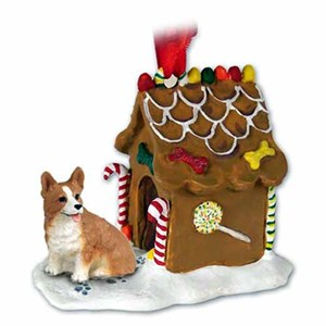 Corgi Gingerbread House Christmas Ornament Pembroke