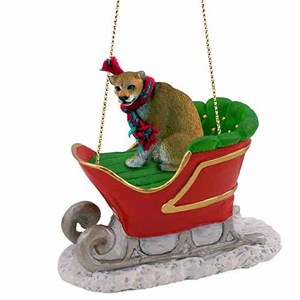 Cougar Sleigh Ride Christmas Ornament