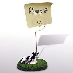 Cow Note Holder (Holstein Bull)