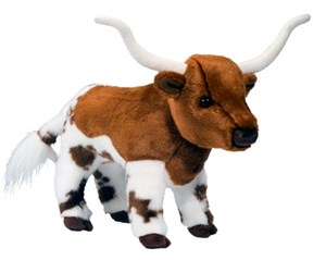 Fitzgerald Longhorn Cow Plush Stuffed Animal 11""
