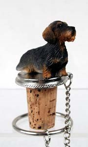 Dachshund Bottle Stopper (Wire Haired)