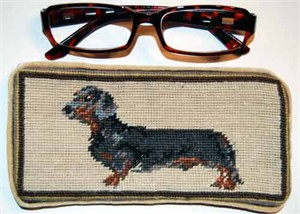 Dachshund Eyeglass Case Black