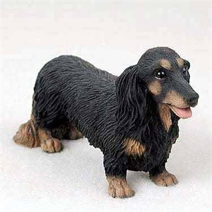 Dachshund Figurine Longhaired Black