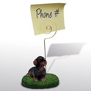 Dachshund Note Holder (Wire Haired)