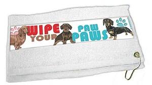 Dachshund Paw Wipe Towel
