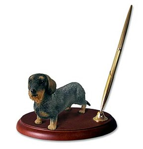 Dachshund Pen Holder (Wire Haired)
