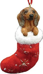 Dachshund (Red) Christmas Stocking Ornament