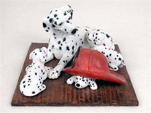 Dalmatian Figurine Mom & Pups