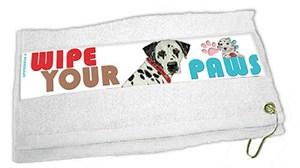 Dalmatian Paw Wipe Towel