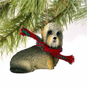 Dandie Dinmont Tiny One Christmas Ornament