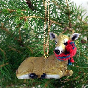 Deer Tiny One Christmas Ornament Doe