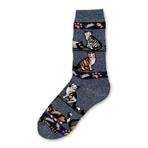 Denim Cat Socks