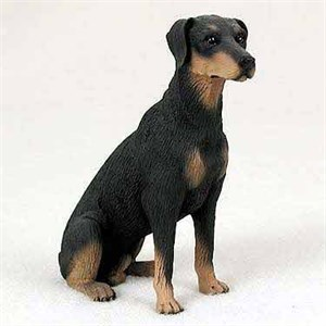 Doberman Figurine Black Uncropped