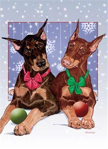 Doberman Pinscher Christmas Cards