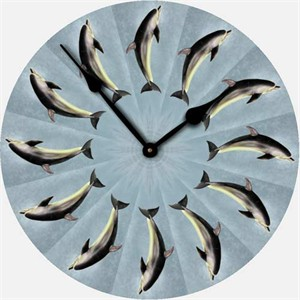 Dolphin Wall Clock