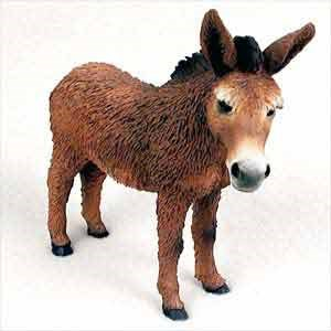 Donkey Figurine Red