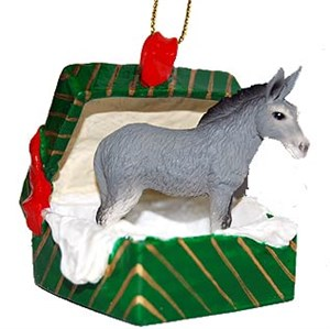 Donkey Gift Box Christmas Ornament