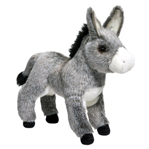 Standing Donkey Plush Stuffed Animal 12""