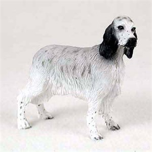 English Setter Figurine Blue Belton